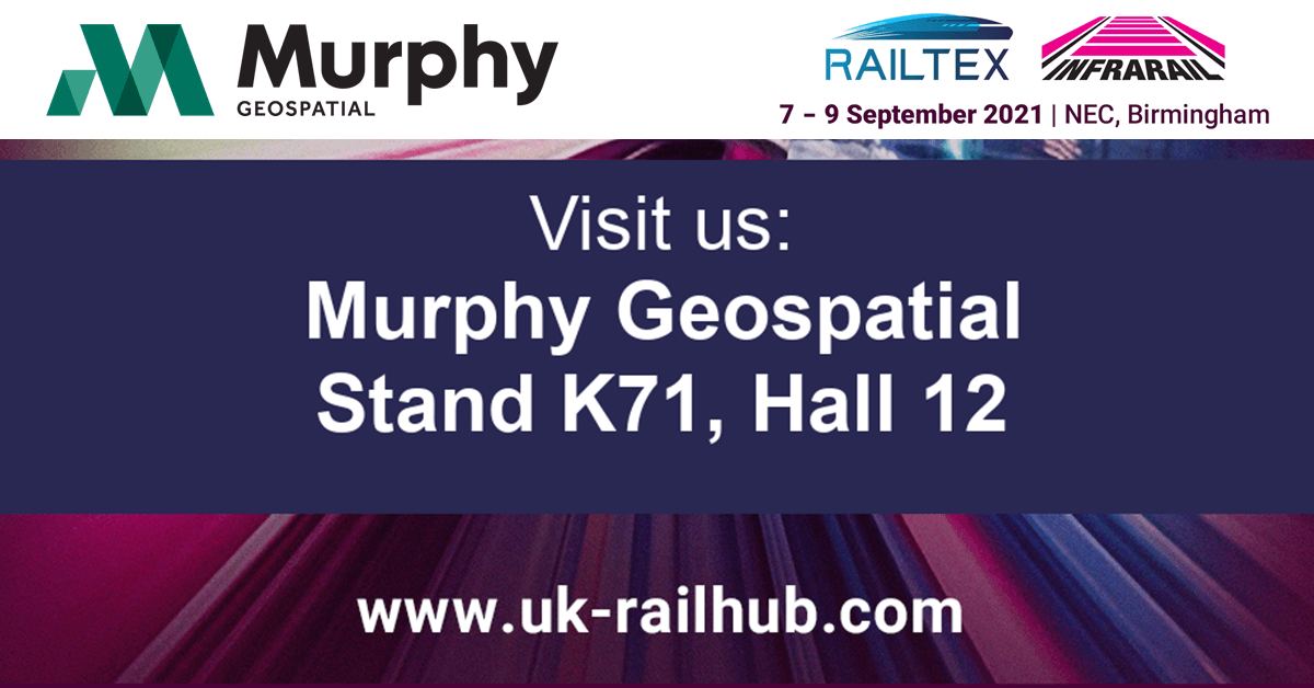 Murphy Geospatial to Showcase Offering at September's Railtex & Infrarail Exhibition